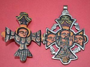 silver pendant crucifixion icon Ethiopian pendant Ethiopian hand painted icon pendant icon pendant