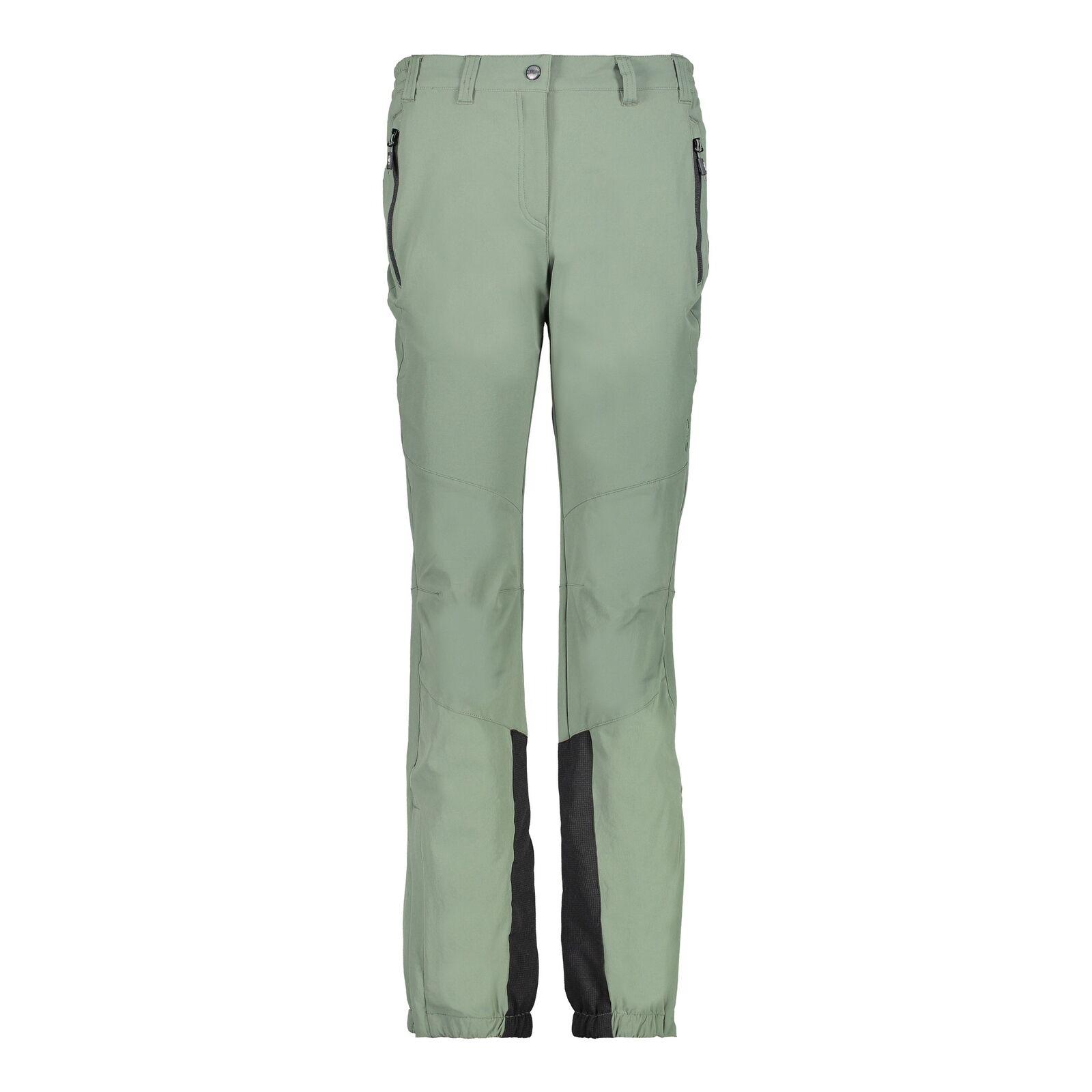 CMP Pantaloni Funzionali Aderenti women Long green Elastico Elasticizzato