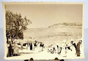 Algerie-la-population-du-village-de-Taberdga-photographie-photo-Khenchela-c1950