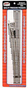 ATLAS-MODEL-RAILROAD-HO-SCALE-CODE-83-6-LEFT-TURNOUT-1-PC-NEW-563