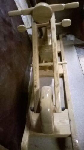aus Holz Schaukelmotorrad Shopper 135cmx32cmx63cm