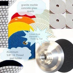 "5"" Diamond Polishing Pad Aluminum Back Granite Marble Concrete Floor Countertop"