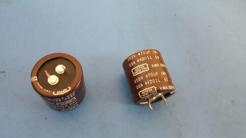 EKMH251VNN471MR30T 4Pcs Capacitor Aluminum Electrolytic 470UF 250V NCC Snap in