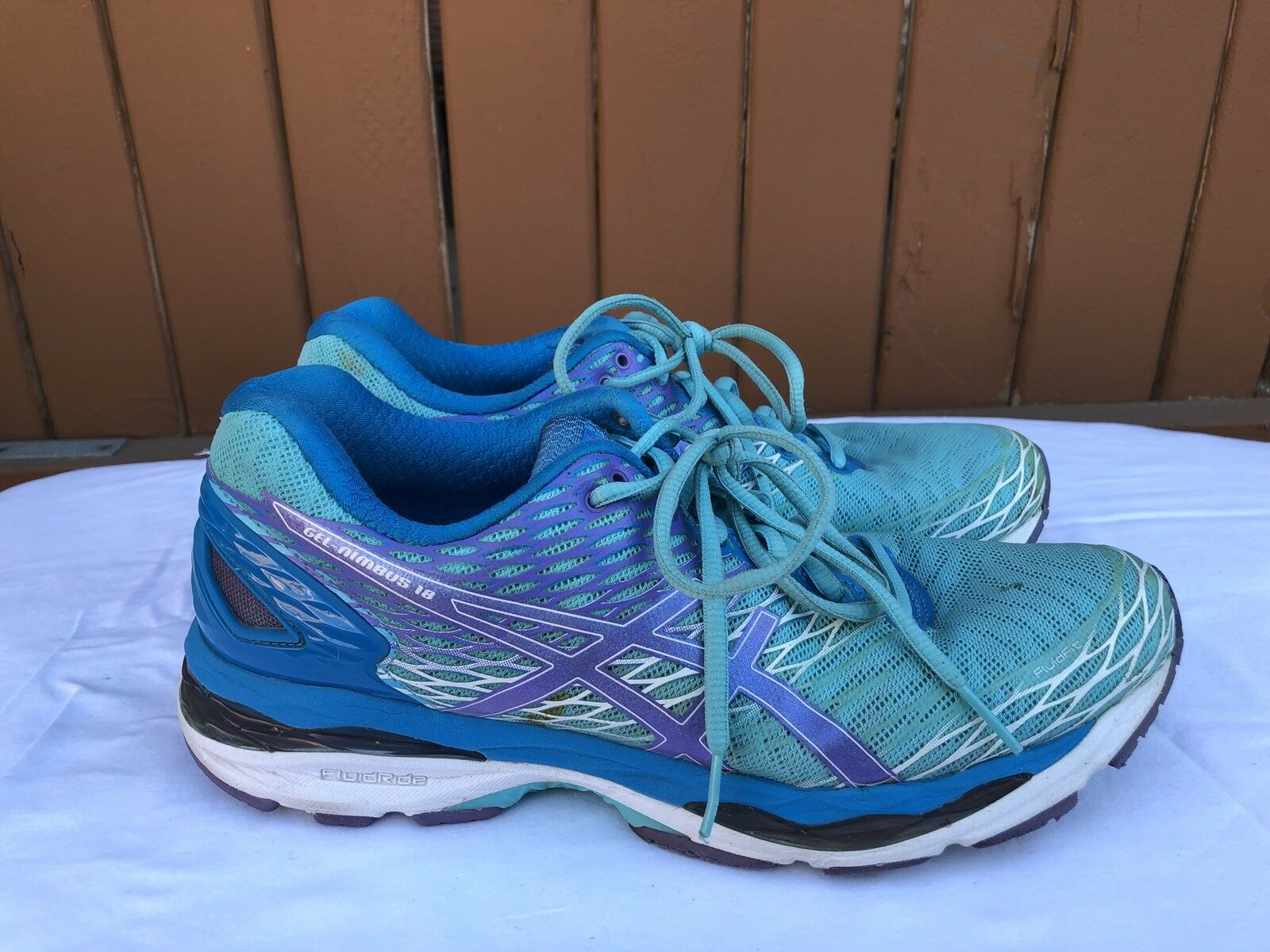 EUC ASICS T650N Gel-Nimbus 18 Women's Size US 9.5 Turquoise Iris Athletic shoes