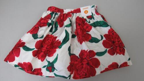 Gymboree Joyful Holiday Red Rose Duppioni Skirt Christmas Size 5 NEW TL28