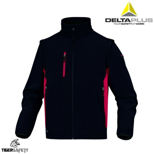 Delta Plus MYSEN2 D-Mach Softshell Jacket Lightweight Coat Removable Sleeves
