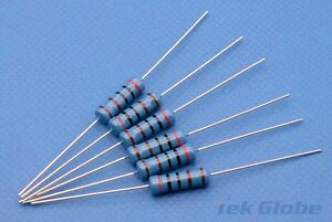 20PCS 1 W Metal Film Resistor ± 1/% 1Ω 390Ω 56 120 150 180 430Ω 470 680 1K 68K 1 M
