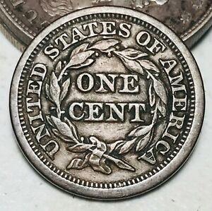 1848 Large Cent Matron Braided Hair 1C Higher Grade Good US Copper Coin CC7069