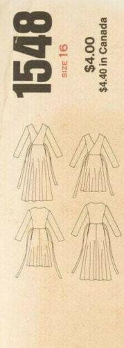 """1976 Vintage Vogue Sewing Pattern Wrap Robe B38/"""" 1891 Diane von Furstenberg"""