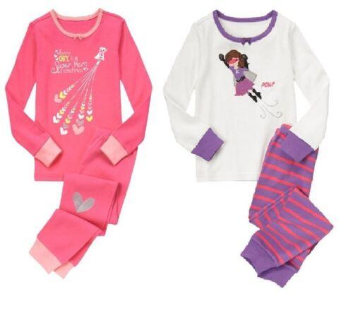 Gymboree Gymmies girls pajamas New NWT Girls 3 Super Hero Heart Pink Purple