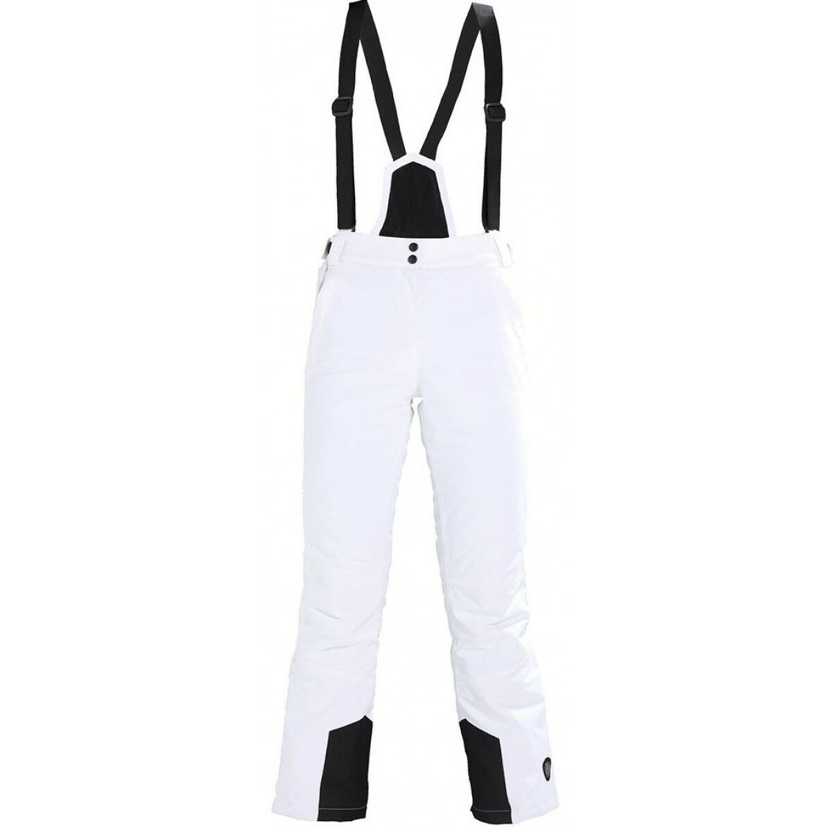 Women's KILLTEC Erielle Insulated Ski  Pants WHITE Detachable Bib w  Suspenders  simple and generous design