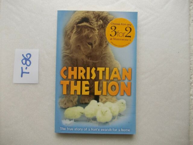 LIBRO BOOK CHRISTIAN THE LION  RED FOX 2009  OTTIMO IN LINGUA INGLESE