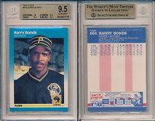 Barry Bonds Pirates 1987 Fleer #604 Rookie Card rC BGS 9.5 Mint x116
