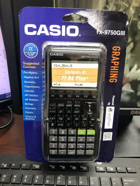 Casio fx-9750GIII Graphing Calculator Python White/Black
