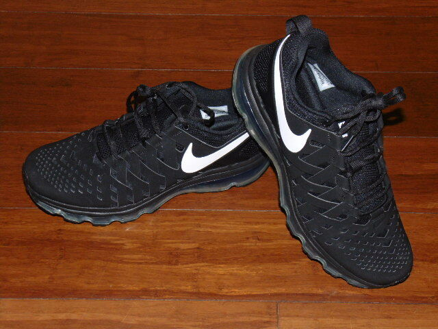 NEW NIKE MENS TR MAX 360 TB RUNNING SHOES BLACK WHITE 599286-010 SZ 11.5