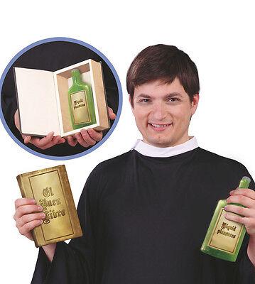 Bibbia DI SCENA CON BOTTIGLIA PER BEVANDE nascoste Vicario PAPA Cardinale Costume buon libro