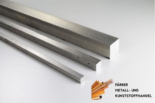 100 mm Lang Aluminium Alu Vierkant 25 x 25 mm
