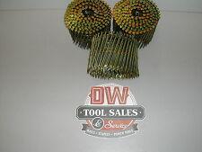"""3 1/4"""" Ring Shank 12d Coil Nails 15 Degree for Bostitch Hitachi Senco (1,800)"""