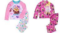 Minions Girls License Button Front Pajama Or Fleece 2 Piece Sleep Set 6x