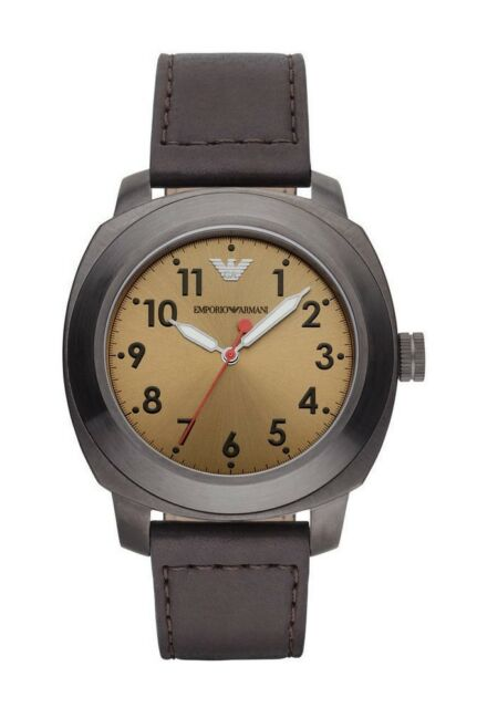 5ea8df8d Emporio Armani Men's SPORTIVO AR6058 Brown Leather Quartz Watch