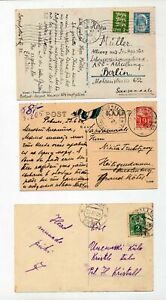 ESTONIA-Early-Postcards-x-7-Used-ZZ109