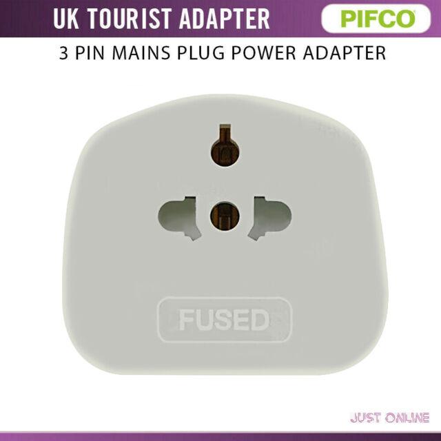 Uk 3 Pin Plug Visitor Travel Adaptor Converter For Us Au Eu To Uk  Usable