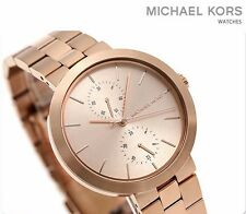 Michael Kors Women's Garner Stainless Rose Gold Tone Watch MK6409 MSRP $225