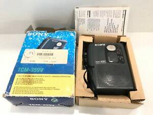 Sony-tcm-359v-Walkman-CASSETTE-RECORDER-REGISTRATORE-VOCALE-OVP