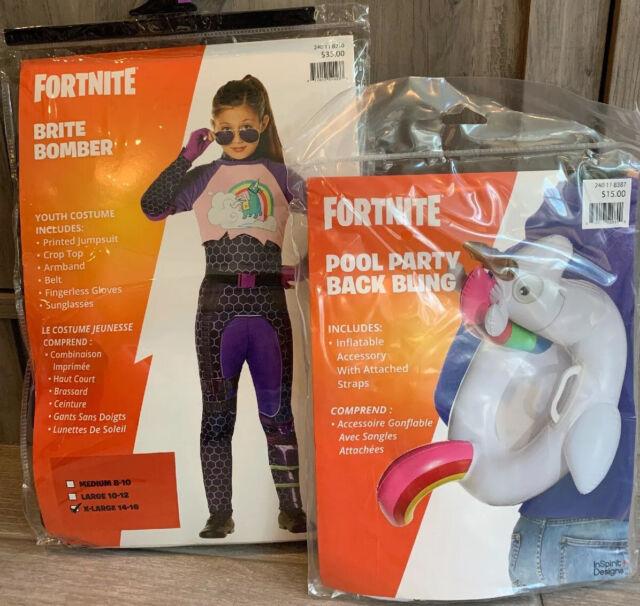 BRAND NEW Licensed FORTNITE BRITE BOMBER Costume Size 12
