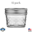 12-Pack-4-oz-Quilted-Crystal-Mason-Jars-Set-with-Lids-and-Bands-Regular-Mouth thumbnail 1