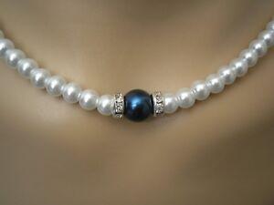 Handmade-Coloured-Pearl-Crystal-Diamante-Necklace-Bridesmaid-Bridal-Wedding-55CP