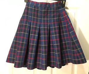 44ffe94f4f True Grits School Uniform Size 10 Green Navy Red Yellow Plaid skirt ...