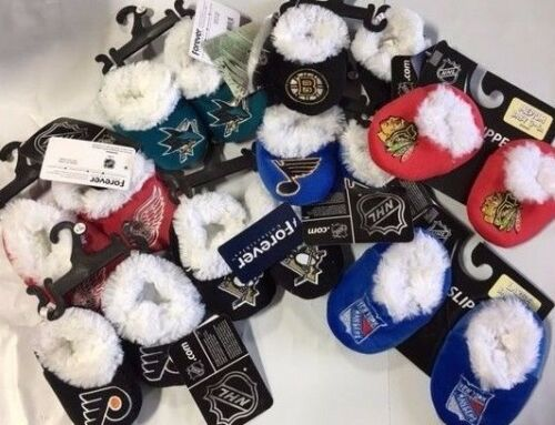 Hockey NHL Infant Newborn Baby Booties Slippers NEW Shower Gift Pick team /& size