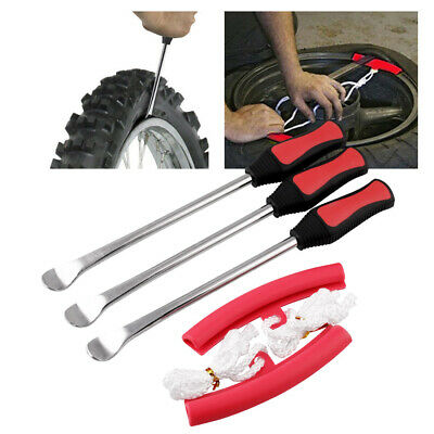 Dr.Roc Tire Spoons Lever Motorcycle Dirt Bike Lawn Mower Tire Changing Tools with Bag 1x14.5 inch 2x11 inch Tire Irons 2X Rim Protectors 1x Tire Valve Stems with Remover Tool Black