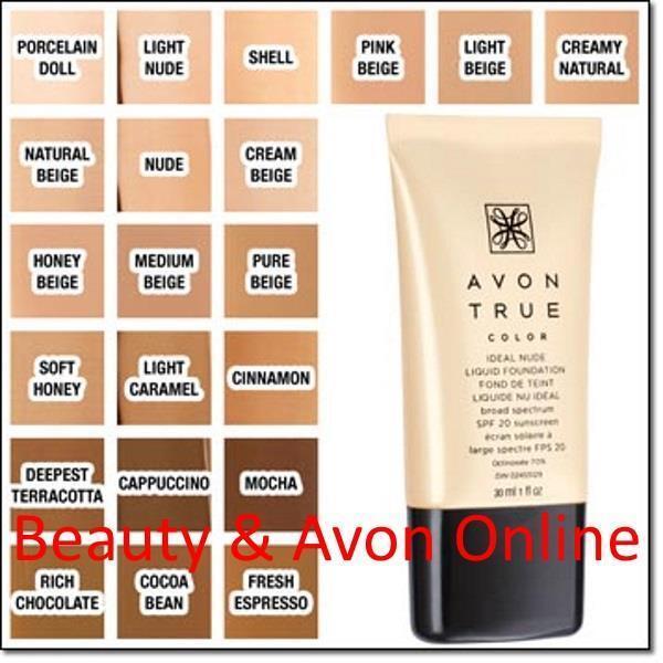 True Color Ideal Nude Liquid Foundation by avon #16