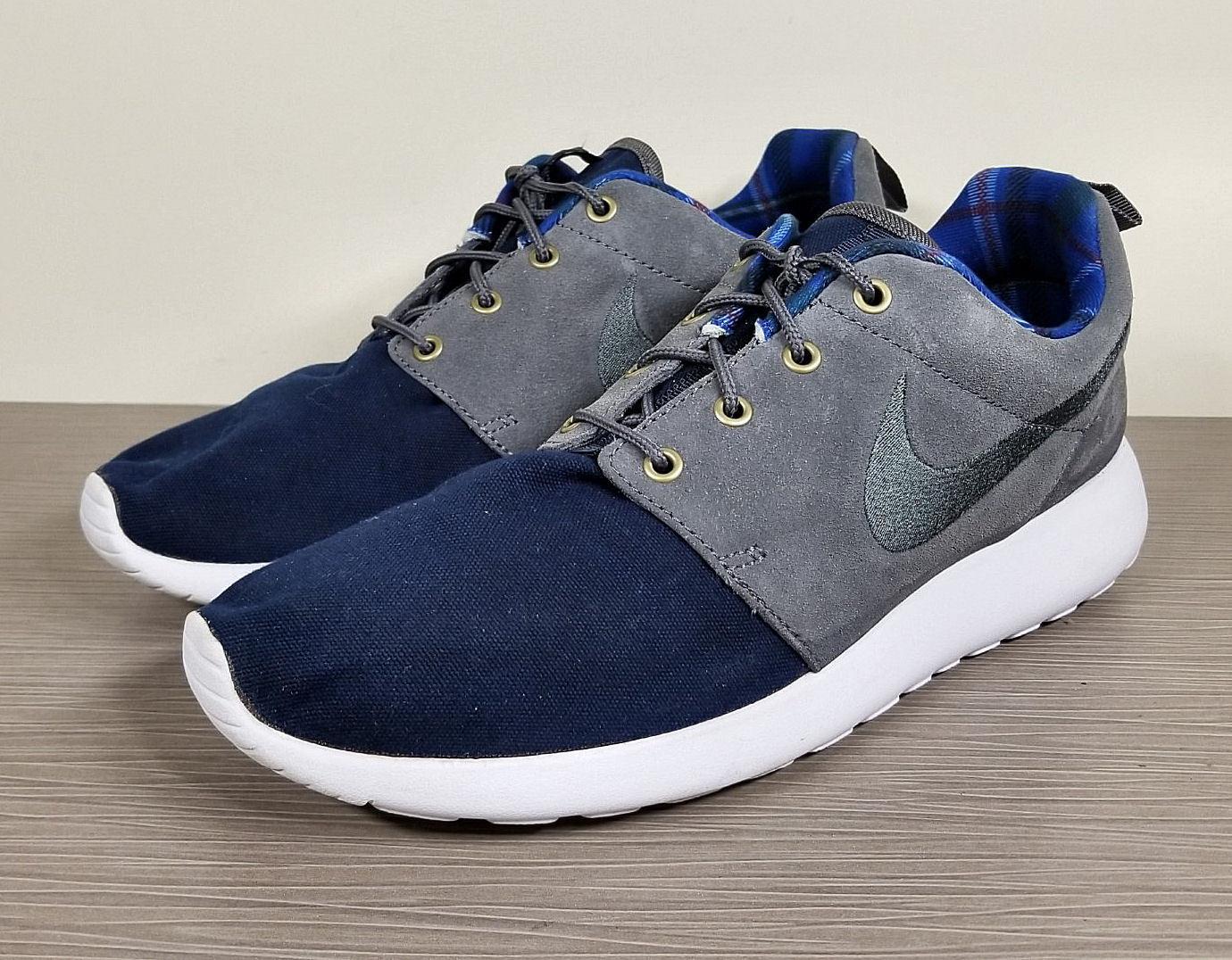 Nike Roshe One Premium, Grey Dark Obsidian / Dark Grey Premium, / White, Mens Size 10 / 44 8ffa52