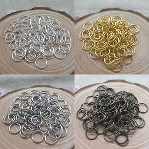 4mm,5mm,6mm,8mm,10mm,12mm,14mm Jump Rings Open Connectors Craft Jewelry Making