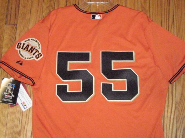 NWT Majestic autentico TIM LINCECUM San Francisco Giants Jersey 44 52