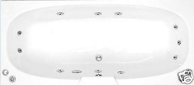 11 Jet 1800 x 800 Double Ended Whirlpool Bath | Large | White Jacuzzi Spa
