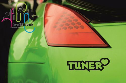 Tuner mit Herz Aufkleber Sticker JDM OEM DUB Autoaufkleber Tuning A 700