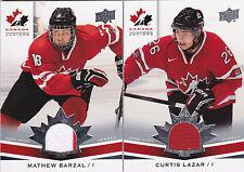 14-15 Team Canada Juniors Curtis Lazar Jersey Upper Deck 2014