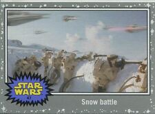 Star Wars JTTFA Silver Parallel Base Card #47 Snow battle