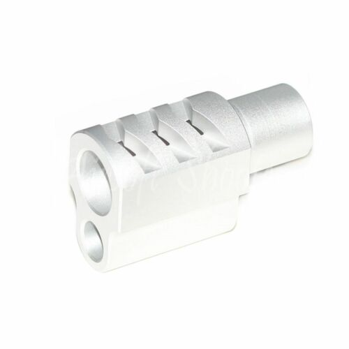 Airsoft Parts 5KU Front Kit Compensator Type 2 for Tokyo Marui 1911 GBB Silver