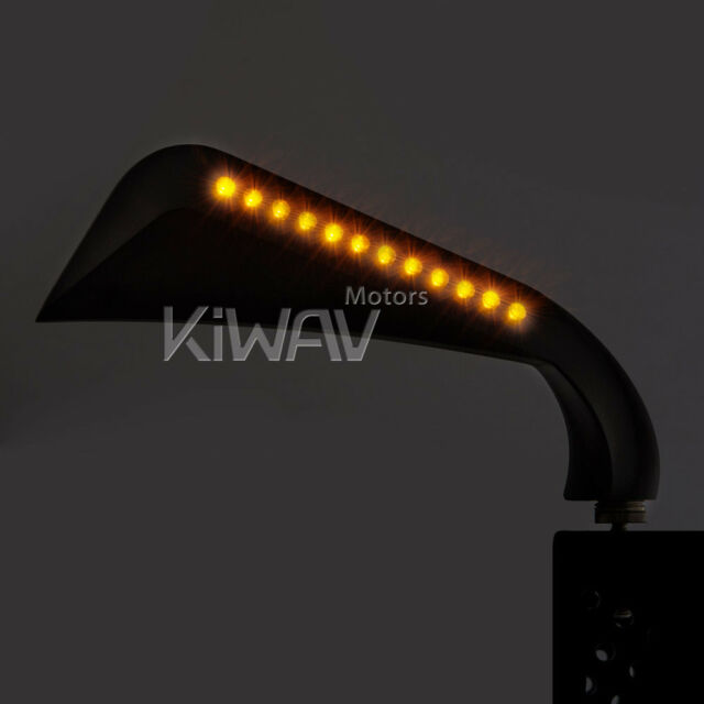 Black AXE mirrors LED indicator running AUTHENTIC KiWAV for Harley AU STOCK