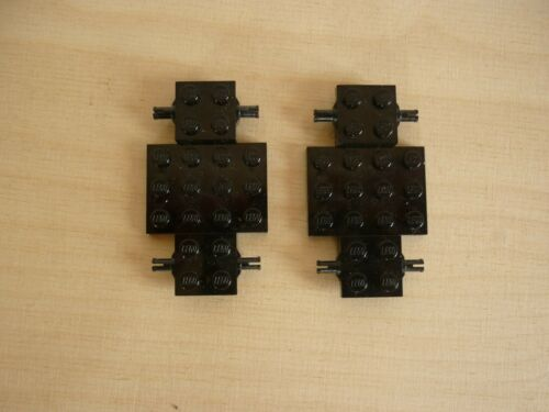 Base 4 x 7 x 2//3-2Stück schwarz Lego Fahrgestell Chassis 2441 Vehicle