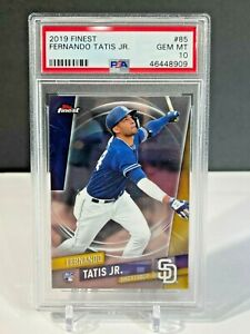 2019 Topps Finest Fernando Tatis Jr. ROOKIE RC #85 PSA 10 GEM MINT Baseball Card