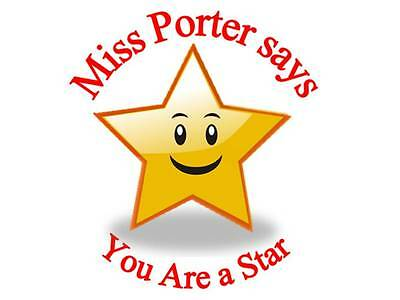 700 Personalised Reward Stickers Teachers You Are a Star 3 FOR 2 Sticker 113