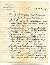 W324-FERRARA-AUTOGRAFO CARLO GRILLENZONI (1814/1897)