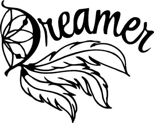 "Dream Catcher Dreamer Vinyl Car Decals Motorcycle Stickers 12/"" x 10/"""