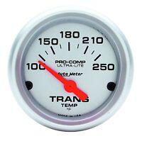 Auto Meter Ultra Lite Pro Comp Electric Trans Temp Gauge 100-250 Deg F (2-1/16)